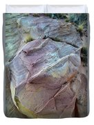 Rainbow Colored Sandstone In Valley Of Fire Duvet Cover