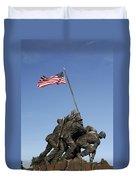 Raising The Flag On Iwo - 799 Duvet Cover