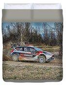 Rally Car Duvet Cover