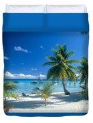 Rangiroa Atoll, Kia Ora Duvet Cover