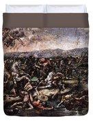 Raphael The Battle At Pons Milvius  Duvet Cover