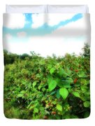 Raspberry Fields 2  Duvet Cover
