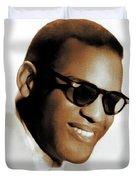 Ray Charles, Music Legend Duvet Cover