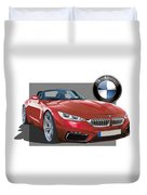 Red 2018 B M W  Z 5 With 3 D Badge  Duvet Cover
