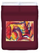 Red Abstract Painting Duvet Cover