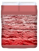 Red Brick Wall Duvet Cover