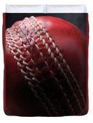 Red Cricket Ball Duvet Cover