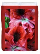 Red Floral Duvet Cover