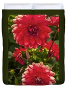 Red Flower Close Up Duvet Cover