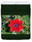Red Anemone Coronaria 1 Duvet Cover