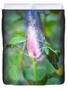 Red Garden Rose Bud Duvet Cover