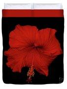 1- Red Hibiscus Duvet Cover