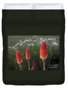 Red Hot Pokers Duvet Cover