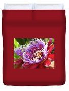 Red Lotus Duvet Cover