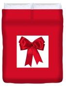 Red Ribbon Duvet Cover