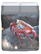 Red Rock Crab Duvet Cover