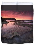 Red Sky At Morning Duvet Cover