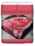 Red Snapper Duvet Cover