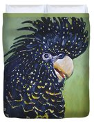 Red Tailed Black Cockatoo  Duvet Cover