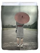 Red Umbrella Duvet Cover by Joana Kruse