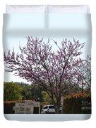 Redbud Tree  Duvet Cover