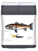Redfish And Cave's Wobbler Duvet Cover