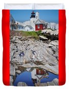 Reflections Of Pemaquid Duvet Cover