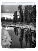 Reflections On Obsidian Creek Duvet Cover