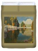 Reflective Lake Duvet Cover