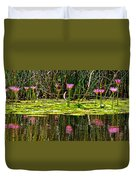 Reflective Wild Water Lilies Duvet Cover
