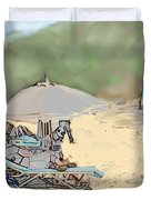 Reggae Beach Duvet Cover