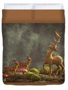 Reindeer Scene Duvet Cover