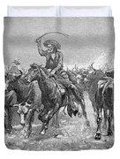 Remington: Cowboys, 1888 Duvet Cover