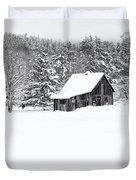 Remote Cabin In Winter Duvet Cover