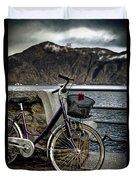 Retro Bike Duvet Cover