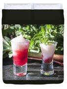 Rhubarb Semolina Pudding Duvet Cover