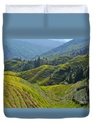 Rice Terraces In Guilin, China  Duvet Cover
