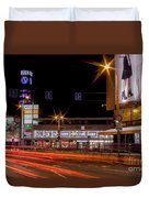 Riga By Night Duvet Cover
