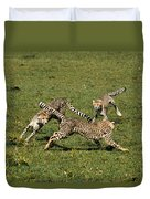 Ring Around The Cheetahs Duvet Cover
