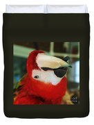 Ringo The Ruby Macaw Duvet Cover