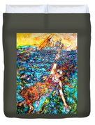 Rising To The Surface Like A Last Breath Last Scream Duvet Cover