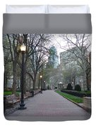 Rittenhouse Square In The Morning Duvet Cover