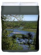 River And Trees Duvet Cover