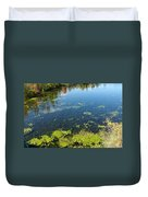 River Water Pollution Duvet Cover