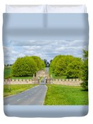 Road To Burghley House Duvet Cover