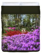 Road With Flowers Duvet Cover