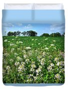 Roadside Wildflowers In Mchenry County Duvet Cover