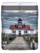 Roanoke Marshes Lighthouse, Manteo, North Carolina Duvet Cover