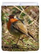 Robin In Hedgerow Duvet Cover