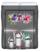 Robo-x9 Celebrates Freedom Duvet Cover